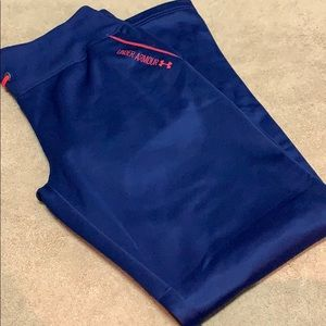 Under armour blue pants semi-fitted size LG
